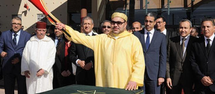 العاهل المغربي يطلق مشاريع في مراكش لتنشيط  النسيج الاقتصادي