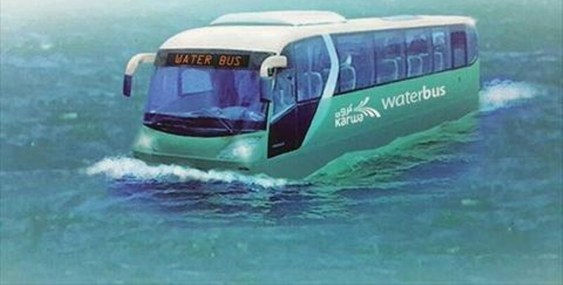 شركة قطرية تطلق حافلة برمائية