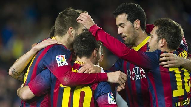 برشلونة يستعيد عرش بطولة الليغا الاسبانية بعد انتصاره على مالقة بثلاثية
