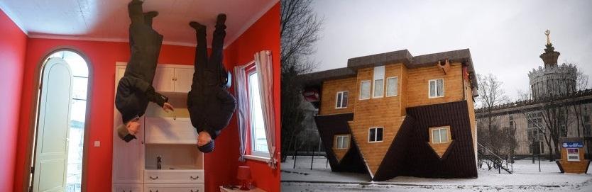 البيت المقلوب في موسكو