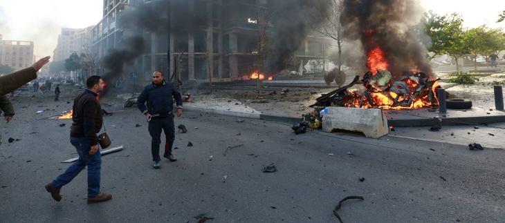 انفجار يهز منطقة معلق حزب الله في بيروت