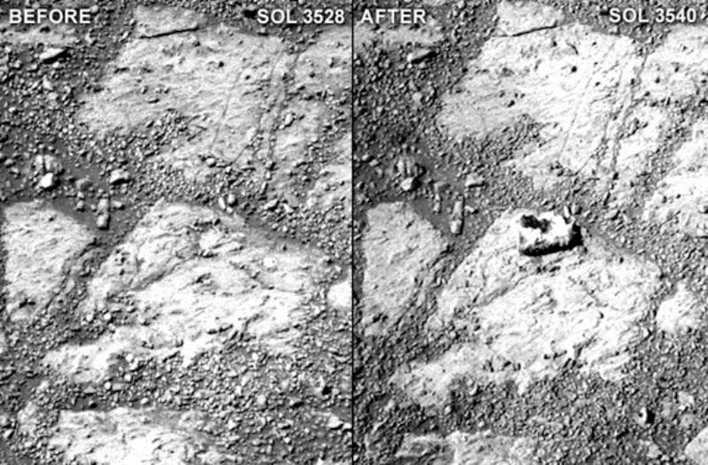 ظهور غريب لصخرة على المريخ يذهل علماء الناسا