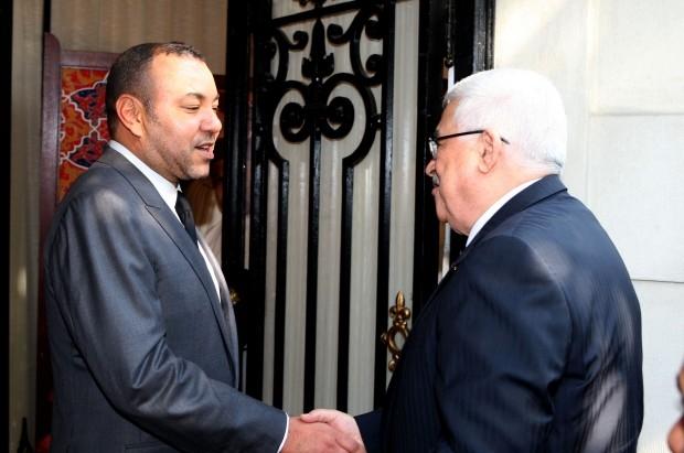 الملك محمد السادس يستقبل محمود عباس