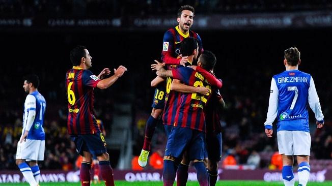 برشلونة يقترب من نهائي الكأس بعد فوزه على سوسيداد بهدفين