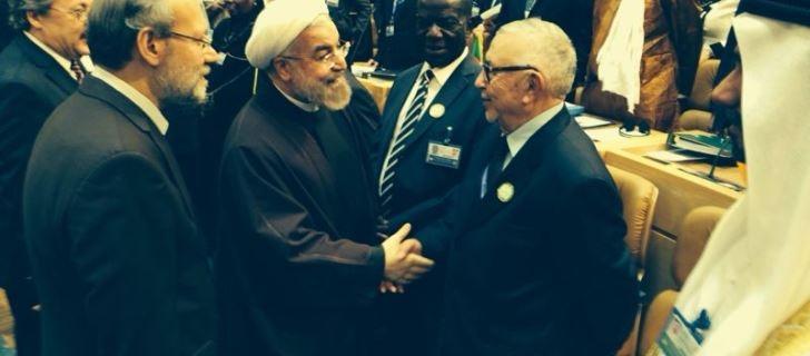 الراضي يلتقي روحاني ويلقي كلمة باسم الاتحاد البرلماني الدولي في طهران