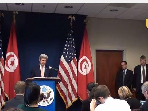 جون كيري يؤكد مساعدته لتونس