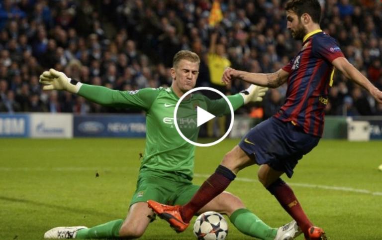 فيديو: برشلونة -مانشيستر سيتي 2-0