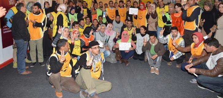 الشباب االمعطلون: وقفة في معرض الكتاب بالبيضاء وأخرى في الرباط مع 20 فبراير