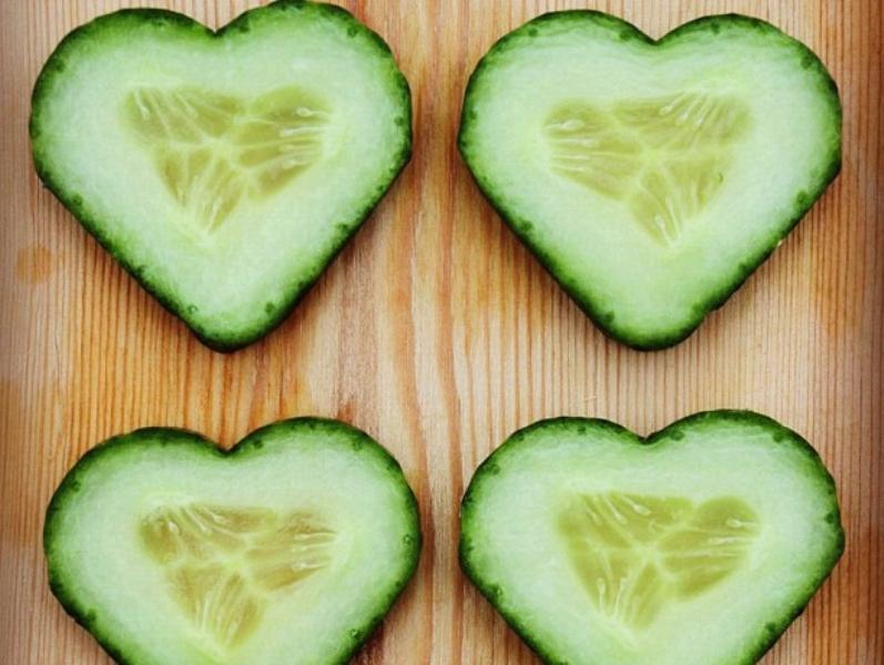 خضروات على شكل قلوب في الفالنتاين