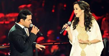 المواجهة بين نادية خالص وأحمد حسين في أحلى صوت