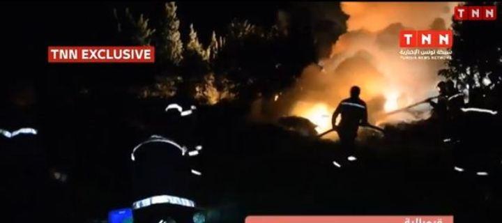 سقوط طائرة مدنية ليبية في تونس