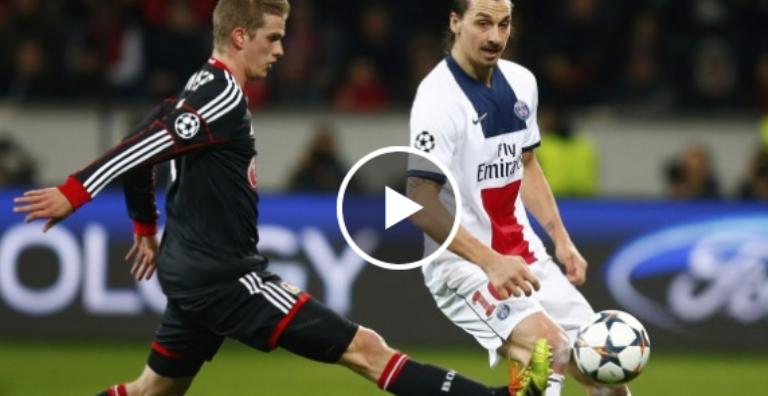 فيديو : باريس سان جرمان يسحق ليفركوزن بـ4-0