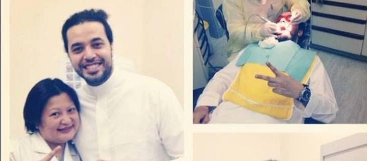 عبدالفتاح الجريني يزور طبيبة الأسنان بالجلباب