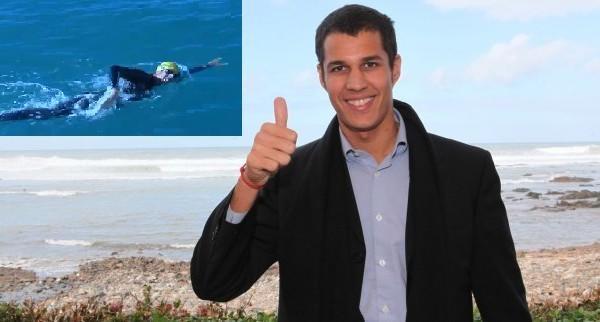 حسن البركة سباح مغربي يعتزم قطع المسافات البحرية بين الدول