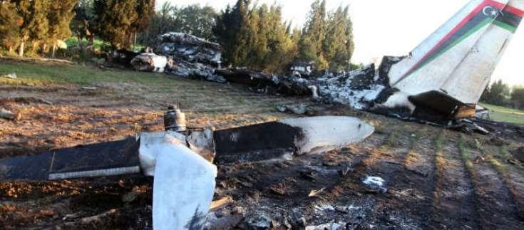 سقوط طائرة ليبية بتونس راح ضحيتها 11 شخصا