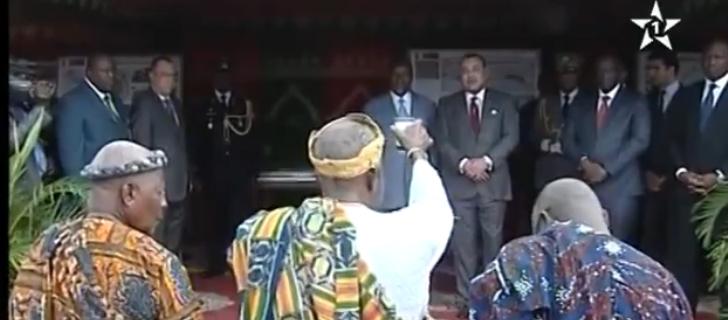 طقس افريقي للترحيب بالملك