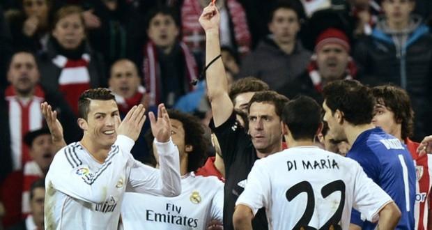توقيف رونالدو ثلاث مباريات في الدوري الاسباني
