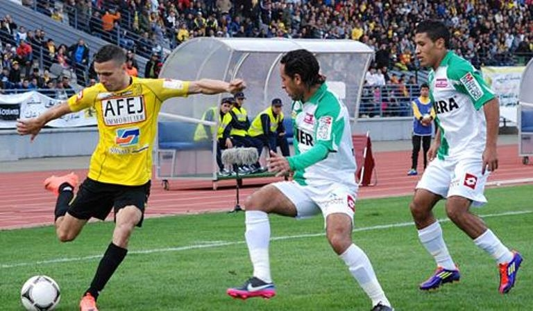 الرجاء البيضاوي يفوز بصعوبة على المغرب الفاسي في مباراة مؤجلة