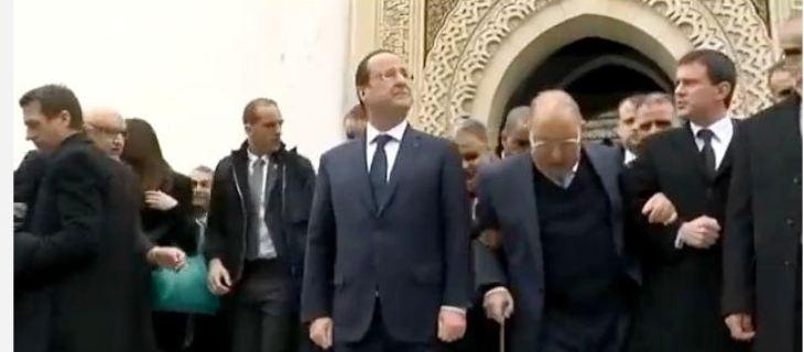 هولاند في زيارة  مسجد باريس الكبير