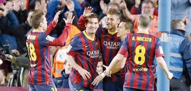 برشلونة يحقق فوزا مهما على سيلتا فيغو بفضل نيمار