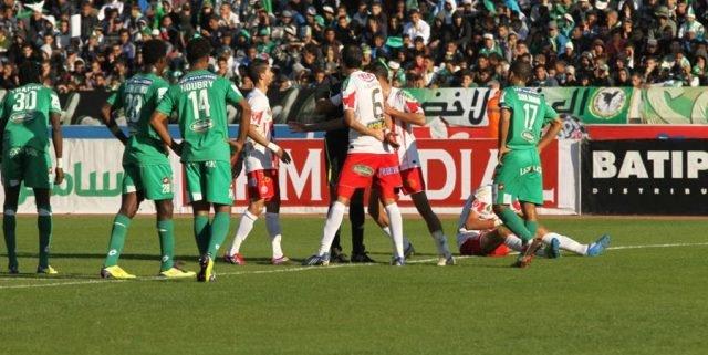 مباراة الديربي بين الرجاء والوداد يوم 6 أبريل
