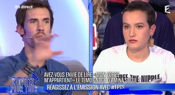 صحفي فرنسي يصف أمينة فيمن بالغبية وقاصرة التفكير