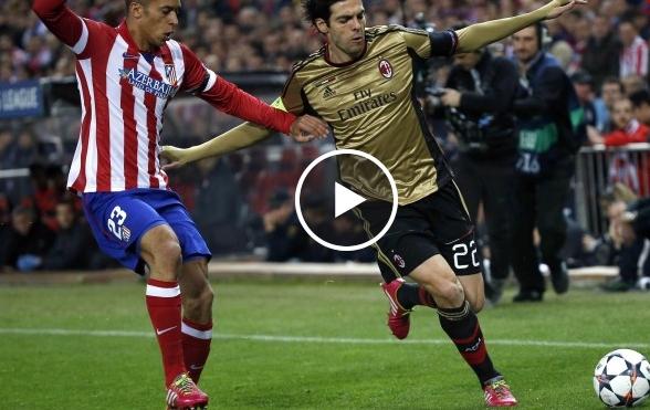 فيديو : أهداف اتليتيكو مدريد على الميلان
