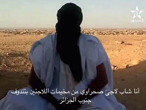 شاب صحراوي ملثم يكشف المستور عن البوليساريو+ فيديو