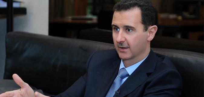 سقوط قذيفة هاون قرب بيت بشار الأسد