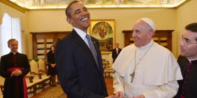 أول لقاء بين البابا فرنسيس واوباما في الفاتيكان