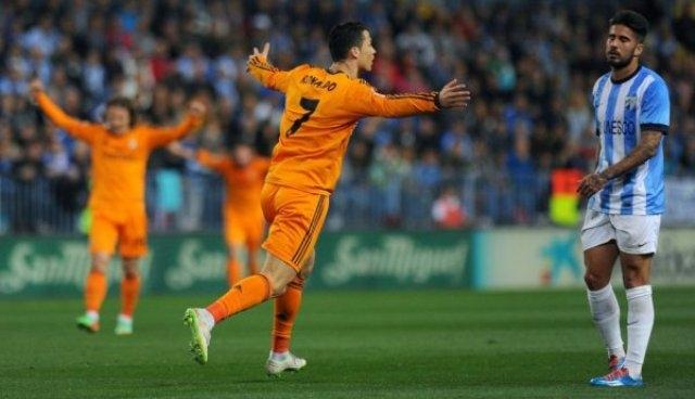 رونالدو يقود الريال لفوز هام على حساب مالقة