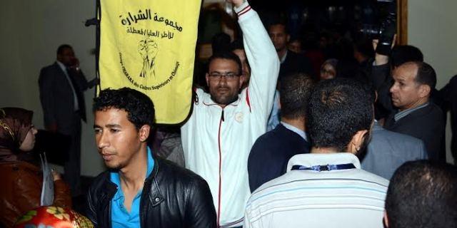 معطلون يطالبون برحيل الحكومة بحضور ممثلي البنك الدولي ومجلس اوروبا