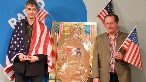تمثال من البسكويت للرئيس الأمريكي أوباما