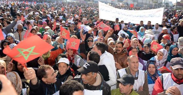 جمعية حقوقية  تدين اعتقال مناضلي حركة 20 فبراير في  مسيرة لدار البيضاء