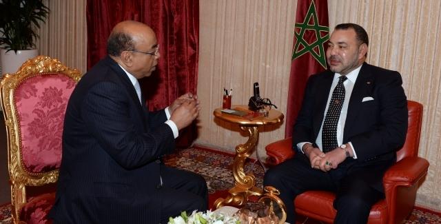 الملك محمد السادس يستقبل محمد إبراهيم الشخصية الإفريقية المرموقة