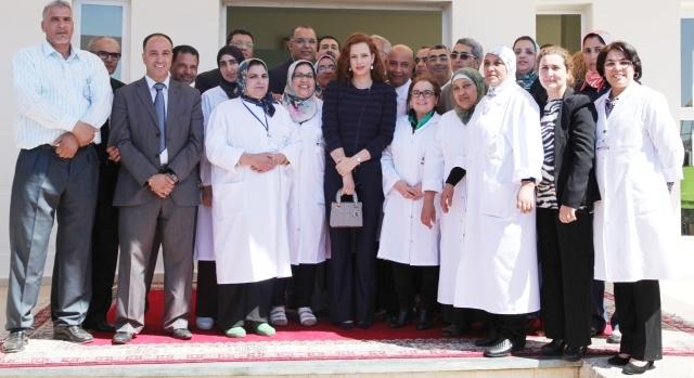 الأميرة للا سلمى تشرف على تدشين المركز المرجعي للرصد المبكر لسرطان الثدي وعنق الرحم بالدار البيضاء