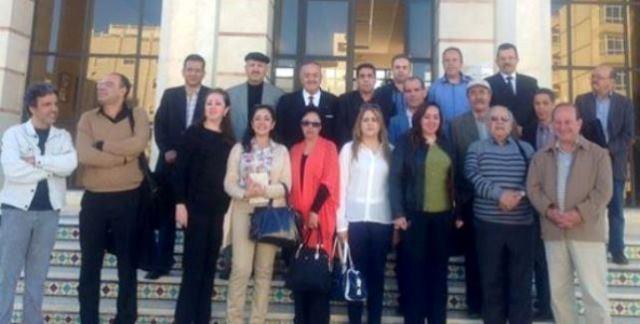 وفد من اتحاد كتاب المغرب يزور بيت الصحافة في طنجة