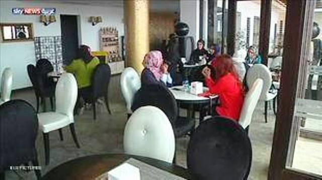 أول مقهى للنساء فقط في ليبيا