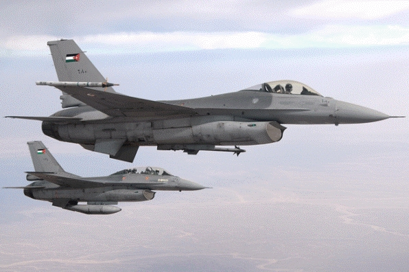 سلاح الجو الأردني يدمر آليات للمعارضة السورية
