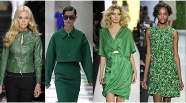الأخضر ملك الألوان الراقية في ربيع وصيف 2014