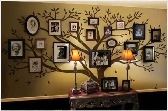 10 أفكار مبتكرة لتزيين جدران المنزل بصور العائلة