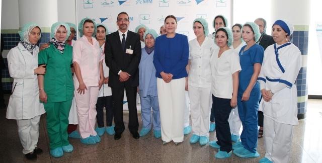 الأميرة للا حسناء تدشن قسم الإنعاش الطبي