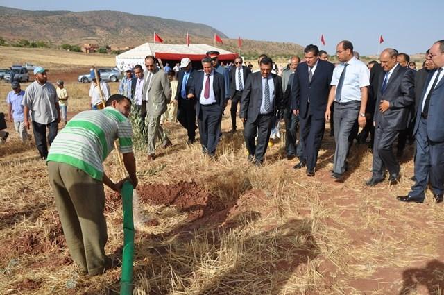 أخنوش يتفقد مشاريع مخطط (المغرب الأخضر)