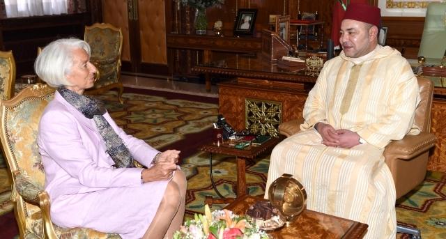 مباحثات للعاهل المغربي وكريستين لاغارد بشأن  التعاون  بين المغرب وصندوق النقد الدولي