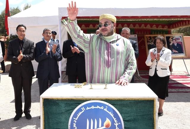 العاهل المغربي يدشن مركزا للتكوين المهني داخل السجن المدني بمدينة بني ملال