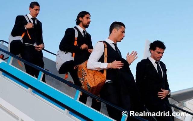 بعثة ريال مدريد تصل للشبونة قبل لعب نهائي الأبطال