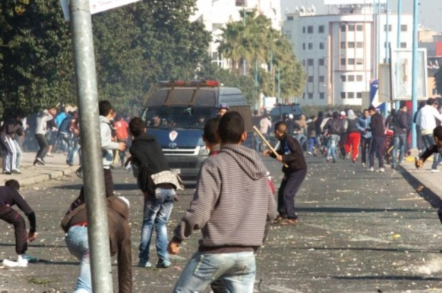 اعتقال 80 رجاويا بسبب أحداث شغب سوداء !