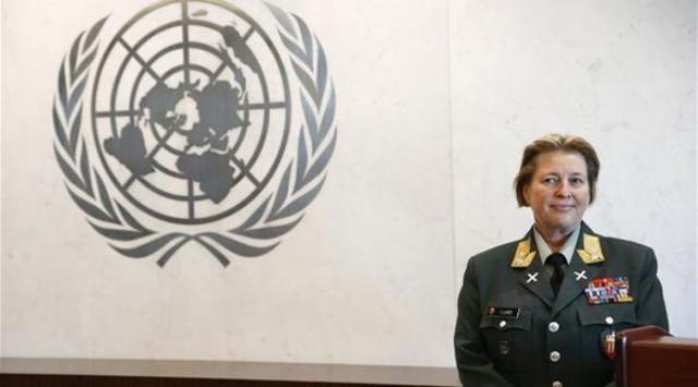 تعيين امرأة على رأس قوات حفظ السلام في قبرص