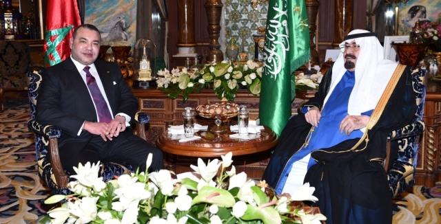 مباحثات مطولة بين العاهل المغربي وخادم الحرمين الشريفين في بوسكورة