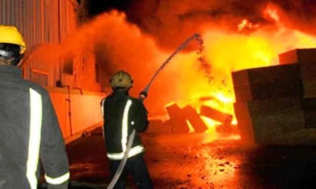 حريق مهول بمخزن للخشب لم يخلف ضحايا